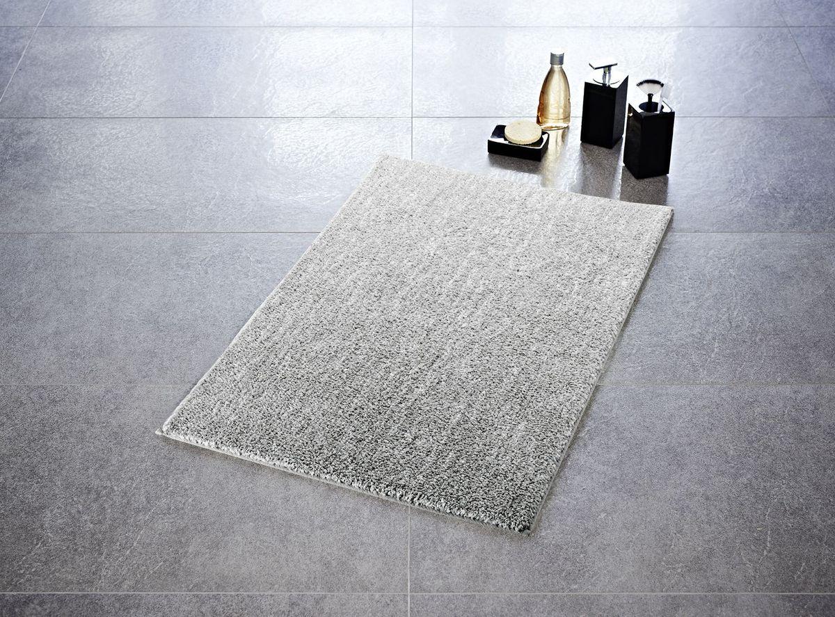 "Коврик для ванной Ridder ""Melange"", цвет: серый, 60 х 90 см"