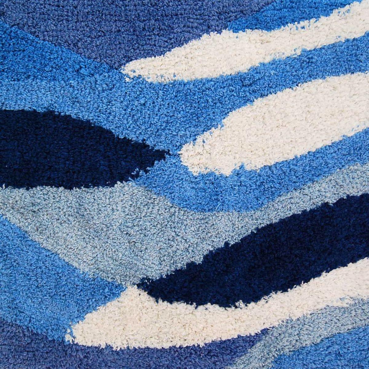 """Коврик для ванной Ridder """"Dune"""", цвет: синий, голубой, 70 х 120 см"""