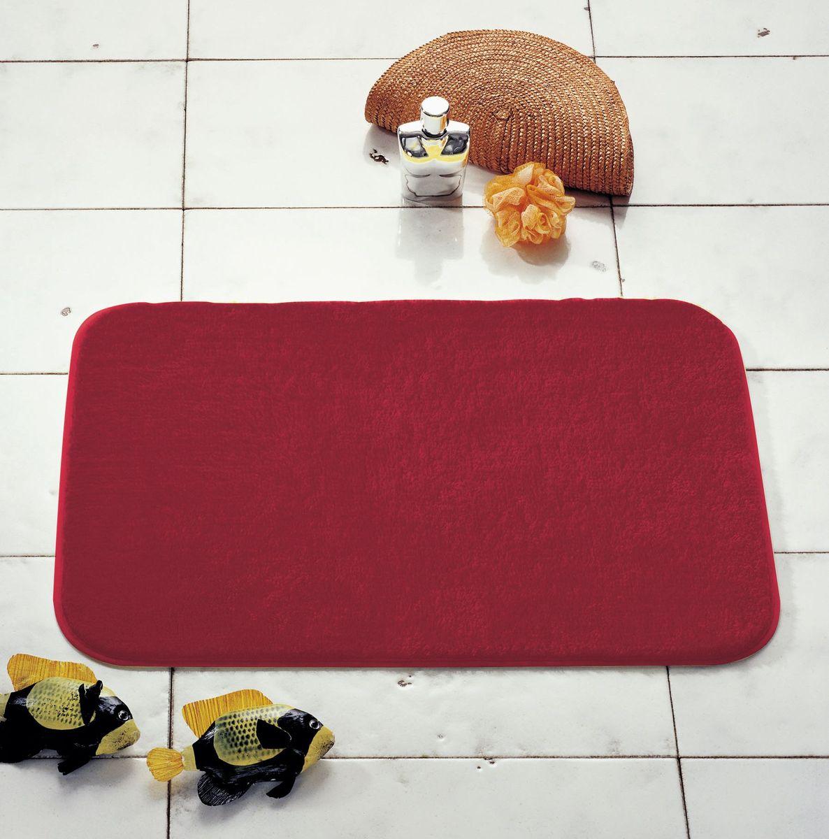 """Коврик для ванной Ridder """"Palma"""", цвет: красный, 55 х 50 см"""