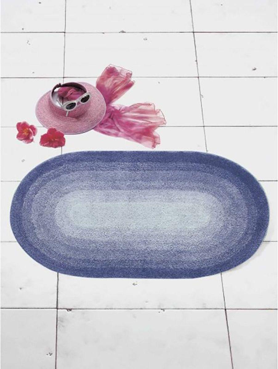 """Коврик для ванной Ridder """"Hawaii"""", цвет: синий, голубой, 60 х 100 см"""