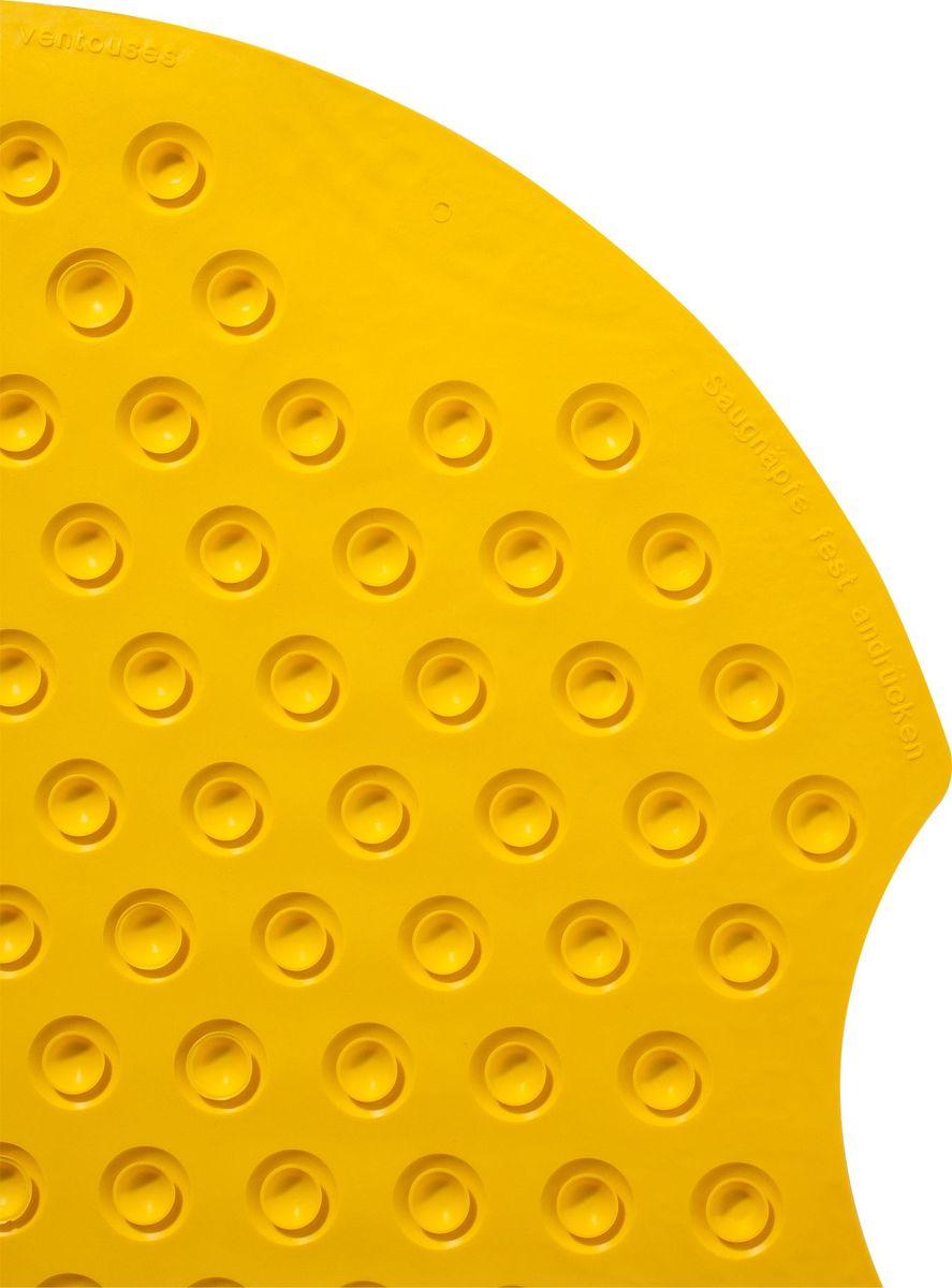"""Коврик для ванной Ridder """"Tecno"""", противоскользящий, цвет: желтый, 38 х 89 см"""