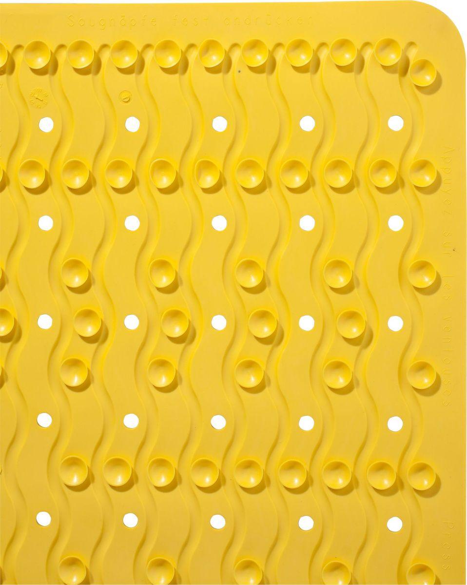 """Коврик для ванной Ridder """"Playa"""", противоскользящий, цвет: желтый , 38 х 80 см"""