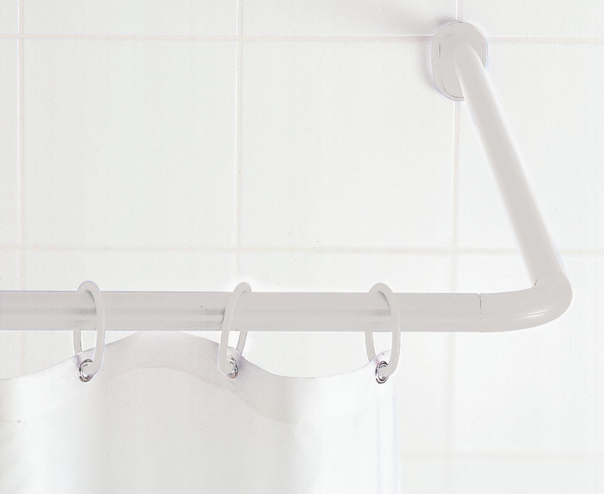 """Штанга для ванной комнаты """"Ridder"""", угловая, цвет: белый, 90 х 90 см. 59101"""