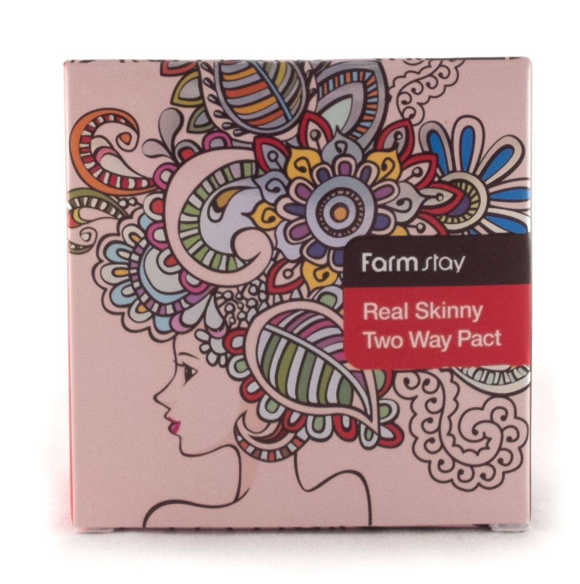 FarmStay Компактная крем-пудра для лица, тон №21 Светлый Беж, со сменным блоком, 13 г + 13 г