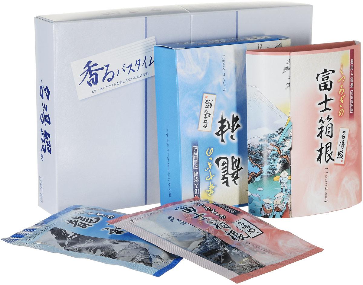 Max Соль для ванны Горячий источник Tsuzuri, аромат свежести, 25 г*5 шт.