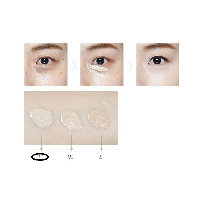 The Saem Консилер для маскировки недостатков кожи Cover Perfection Tip Concealer 01 Clear Beige, 6,5 гр