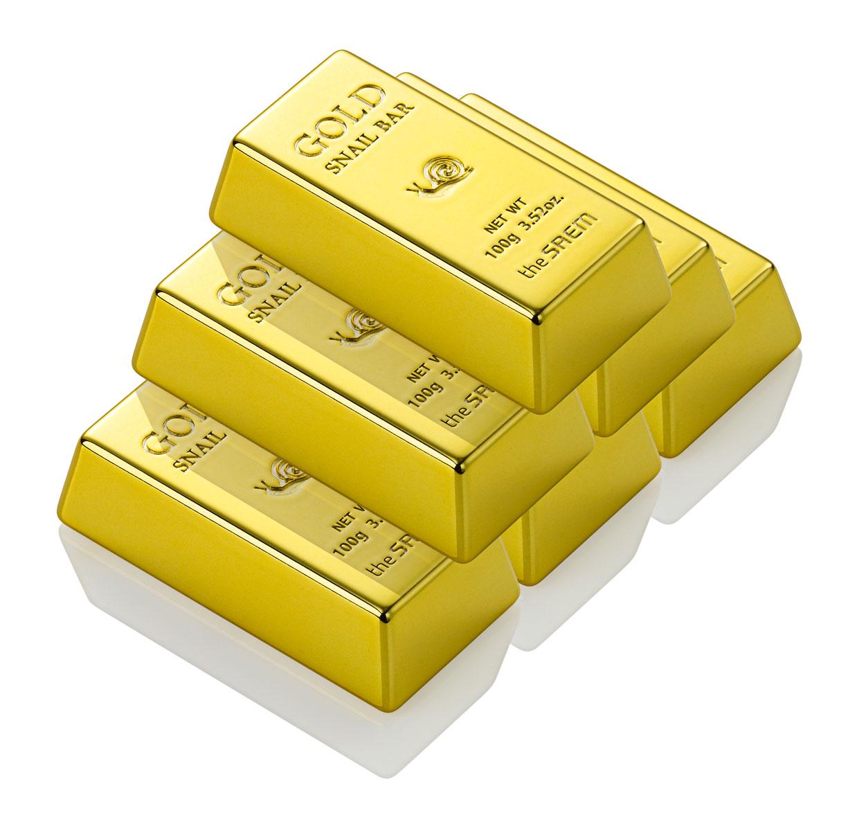 The Saem Мыло для умывания с экстрактом золота, муцина улитки, оливы Gold Snail Bar, 100 гр