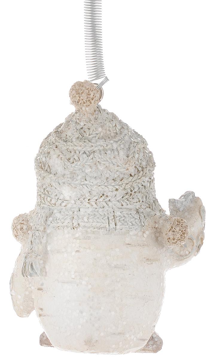 """Украшение новогоднее подвесное Феникс-Презент """"Совенок в шапочке"""", высота 6 см"""