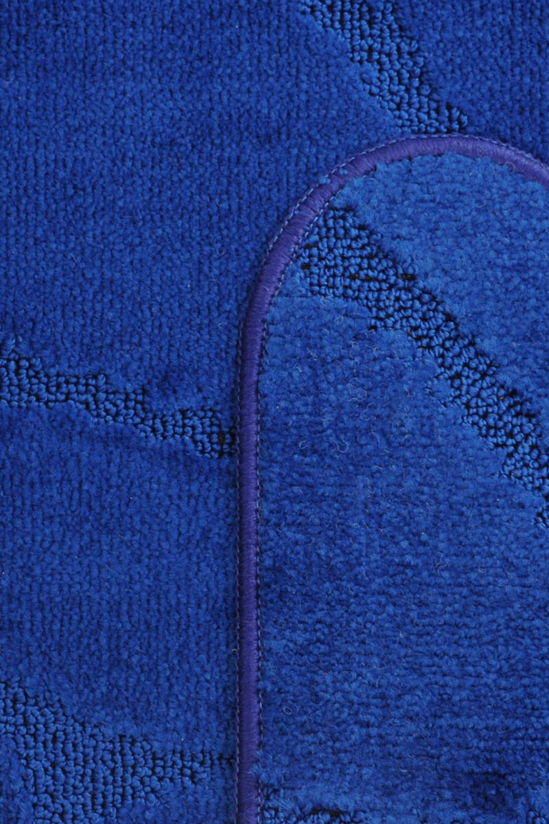 """Набор ковриков для ванной MAC Carpet """"Рома. Камни"""", цвет: темно-синий, 50 х 80 см, 50 х 40 см, 2 шт"""