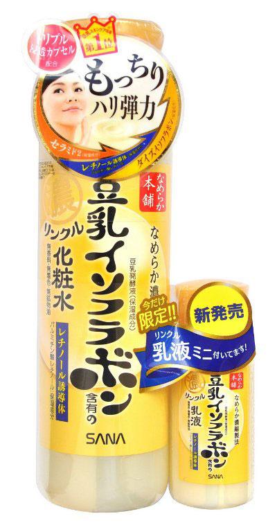 Sana Увлажняющий и подтягивающий лосьон Wrinkle Lotion, с ретинолом и изофлавонами сои, 200мл