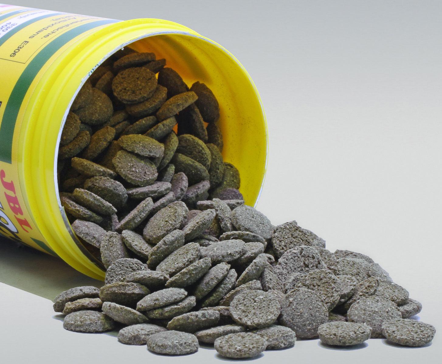 """JBL """"NovoPleco"""" Водорослевые чипсы с примесью целлюлозы для кольчужных сомов, 250 мл (125 г)"""
