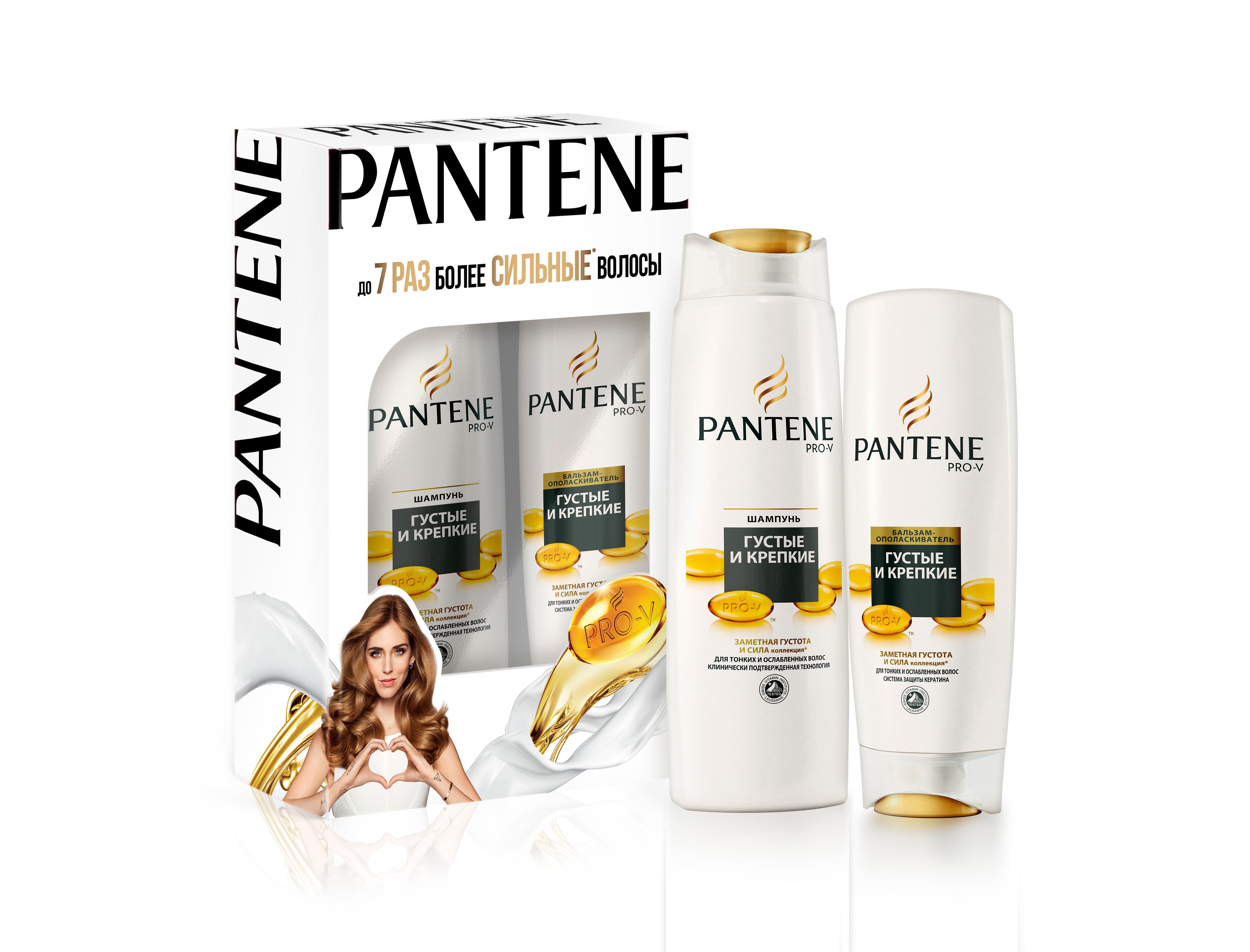 Подарочный набор Pantene шампунь 250мл + бальзам-ополаскиватель 320мл Густые и крепкие (Pantene Pro-V)