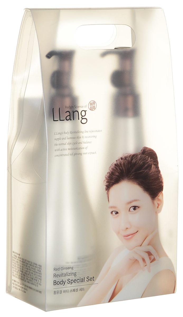 Llang Набор по уходу за кожей тела Red Ginseng Revitalizing Body Special Set, 285 мл + 285 мл