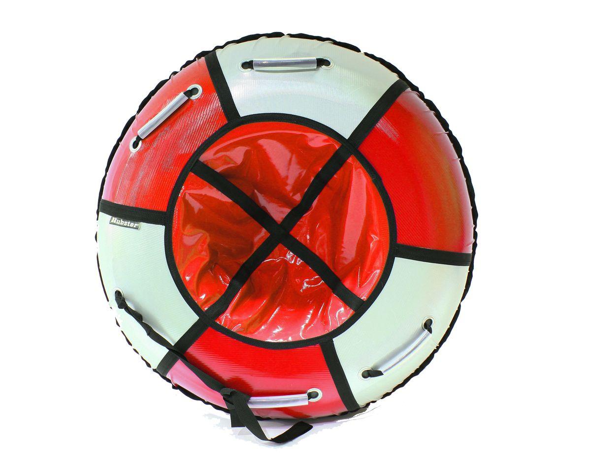 "Тюбинг Hubster ""Классик"", цвет: красный, серебро, диаметр 105 см"