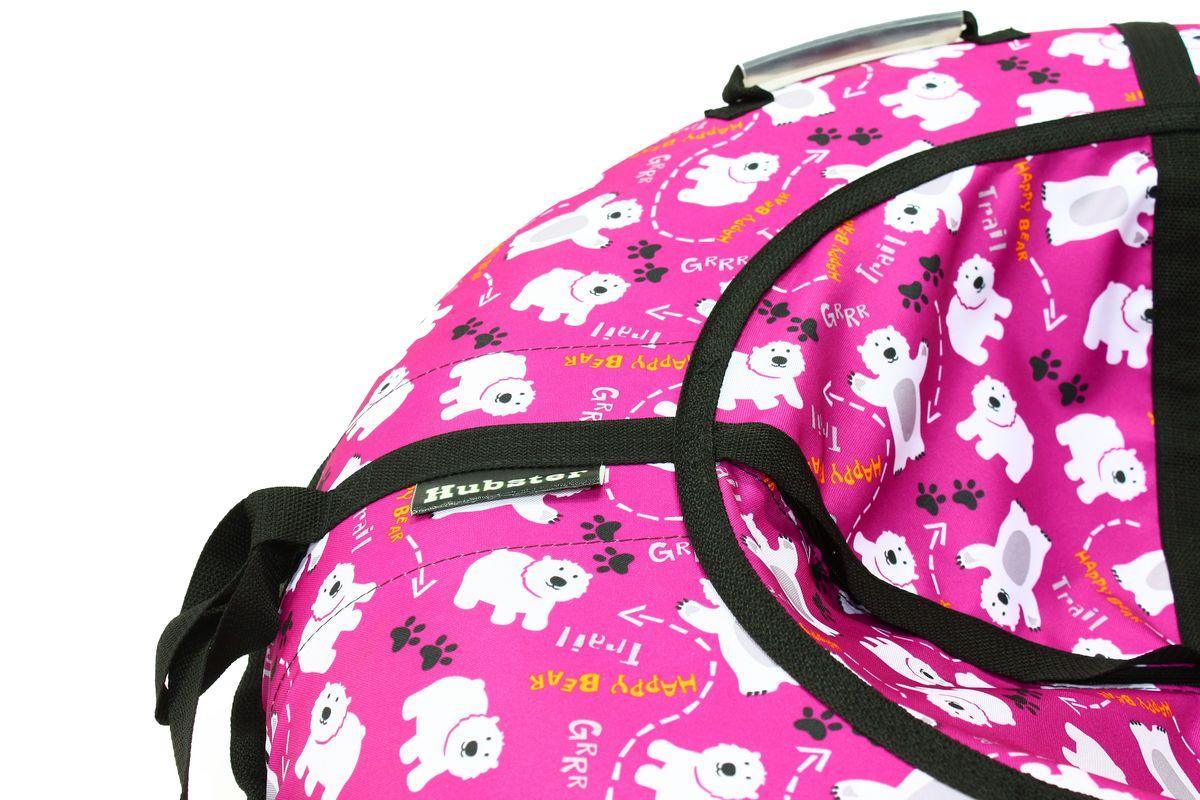 """Тюбинг Hubster """"Люкс. Мишки"""", цвет: фиолетовый, диаметр 105 см"""