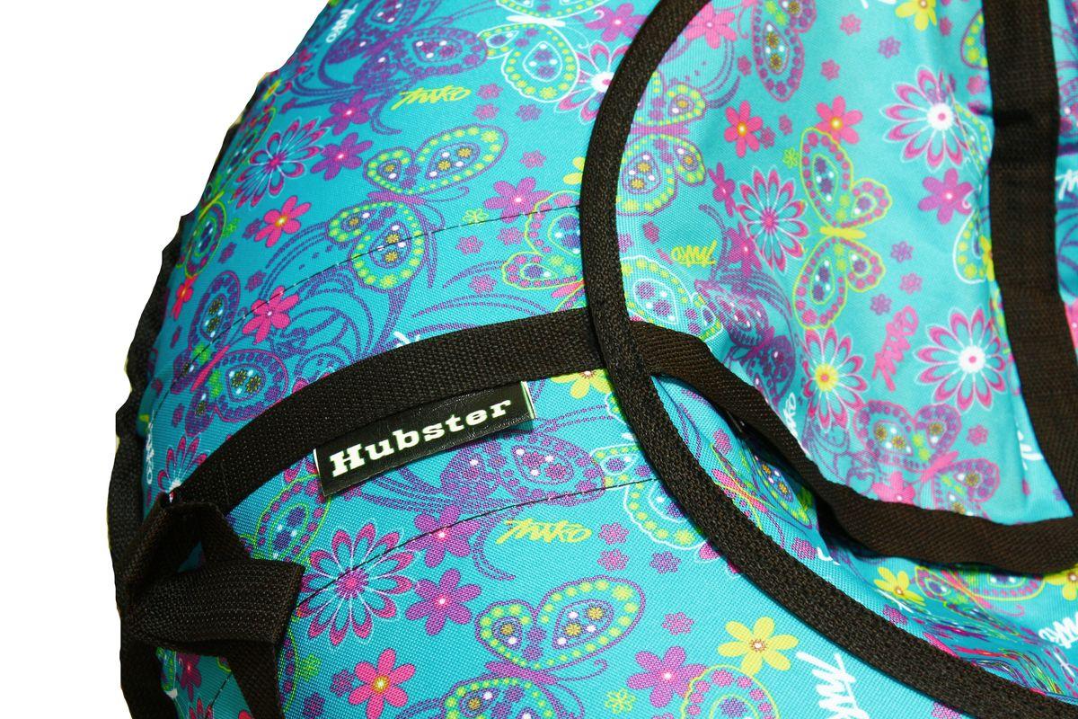 "Тюбинг Hubster ""Люкс. Бабочки бирюзовые"", диаметр 105 см"