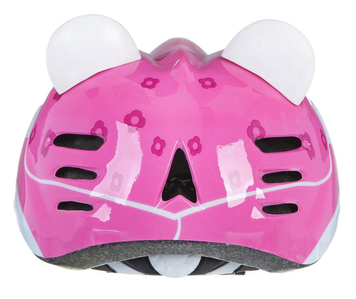 """Шлем детский велосипедный STG """"MV7-CAT"""", цвет: розовый. Размер М (52-56 см). Х66768"""