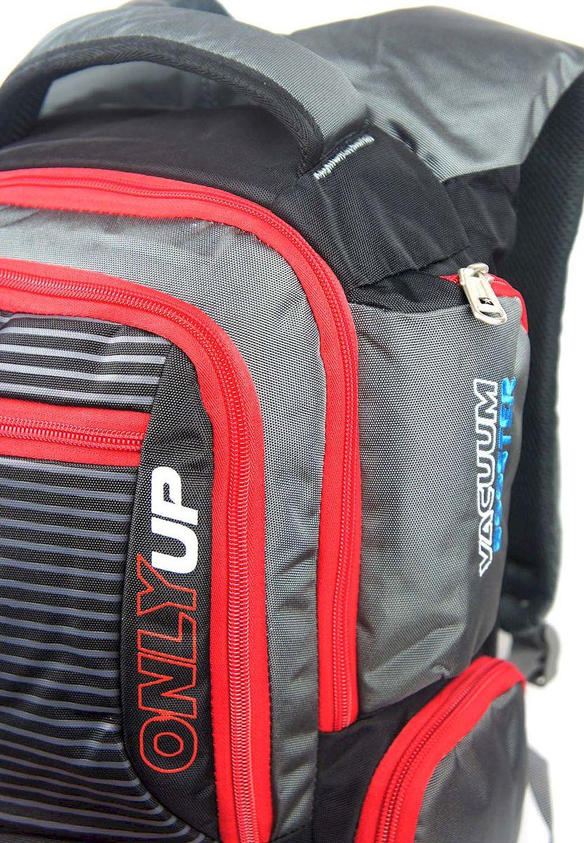 Рюкзак спортивный UFO people, цвет: темно-серый с красным, 21 л. 5528