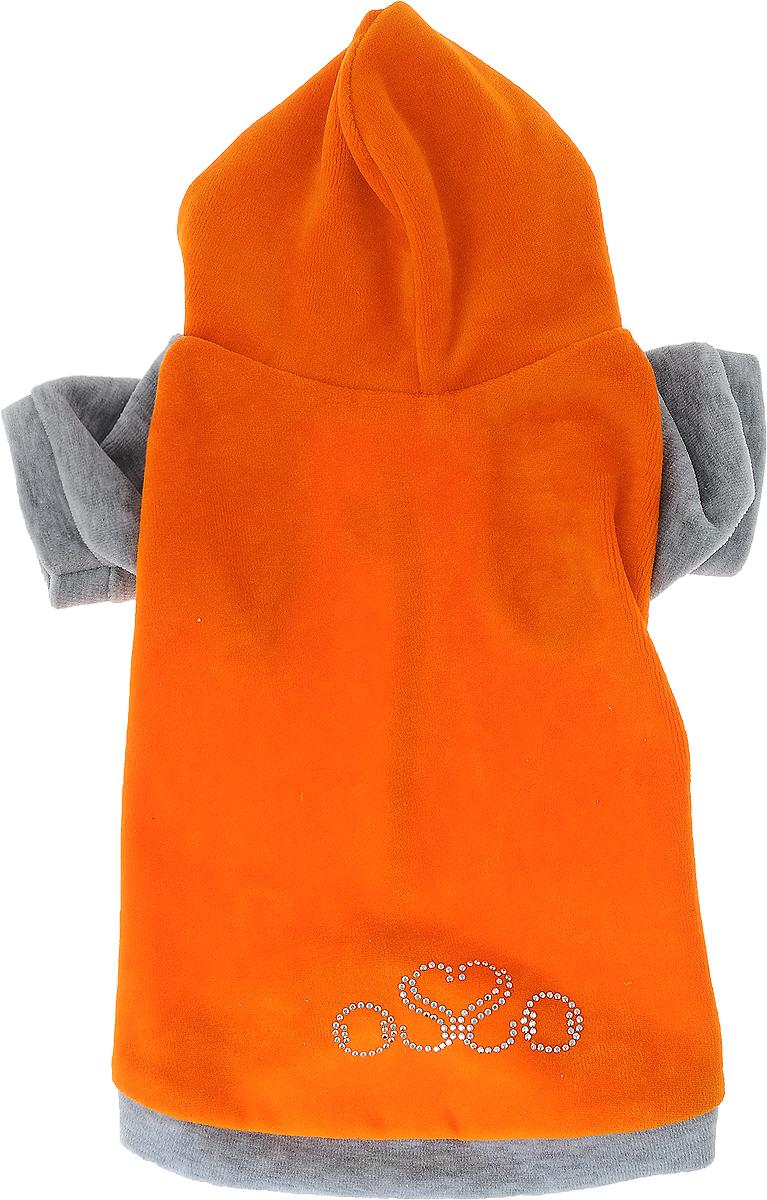 """Толстовка для собак """"Osso Fashion"""", цвет: серый, оранжевый. Размер 30"""