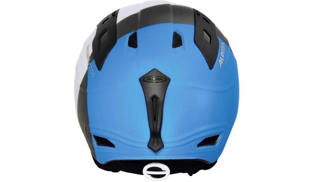 """Шлем зимний Alpina """"Snowmythos"""", цвет: белый, серебряный, синий. Размер 58-61. 9062_16"""