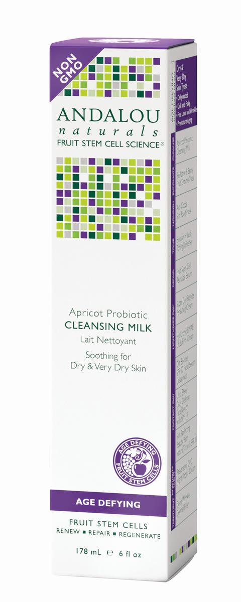 ANDALOU Очищающее молочко с комплексом пробиотиков и маслом абрикоса Антивозрастная коллекция,178 мл (Andalou)