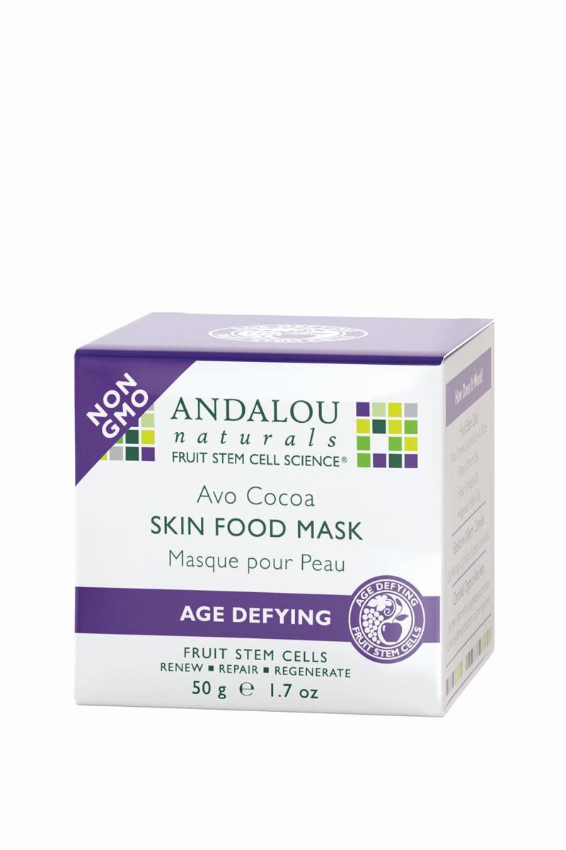 ANDALOU Питательная маска для лица с какао и авокадо Антивозрастная коллекция,50 мл (Andalou)