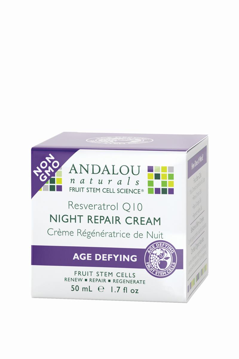 ANDALOU Ночной восстанавливающий крем Ресвератрол и Q10 Антивозрастная коллекция,50 мл (Andalou)