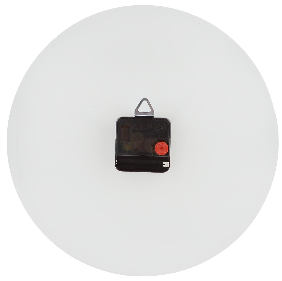"""Часы настенные Эврика """"Нарисуй сам"""", стеклянные, цвет: белый, диаметр 28 см"""