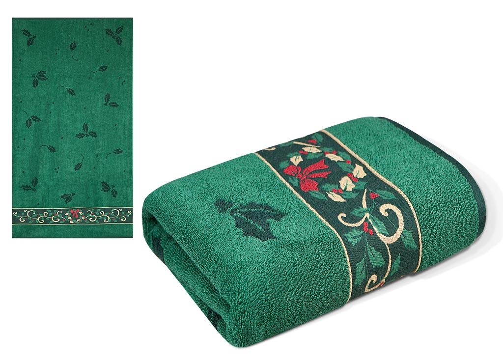 "Полотенце Soavita ""Premium. Garland"", цвет: зеленый, 70 х 130 см"