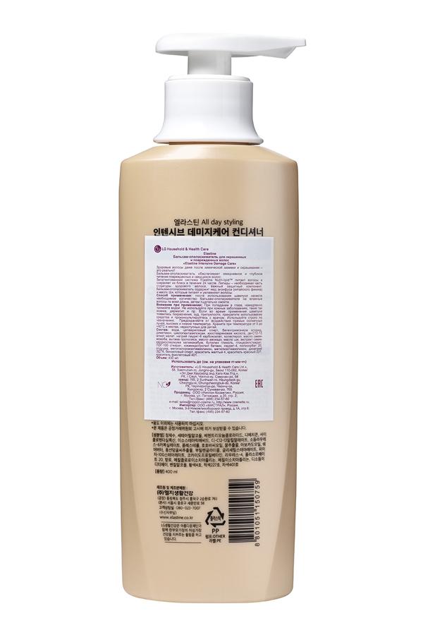 LG 150759lg Бальзам-ополаскиватель для окрашенных и поврежденных волос Elastine Intensive Damage Care, 400 мл (LG Household  Health Care)