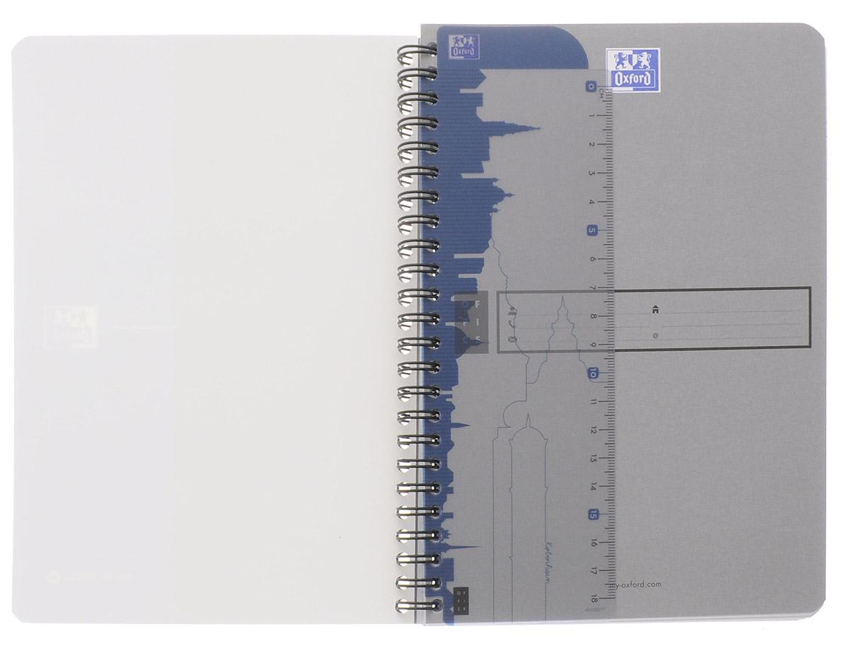 Oxford Тетрадь Эко 90 листов в клетку цвет синий