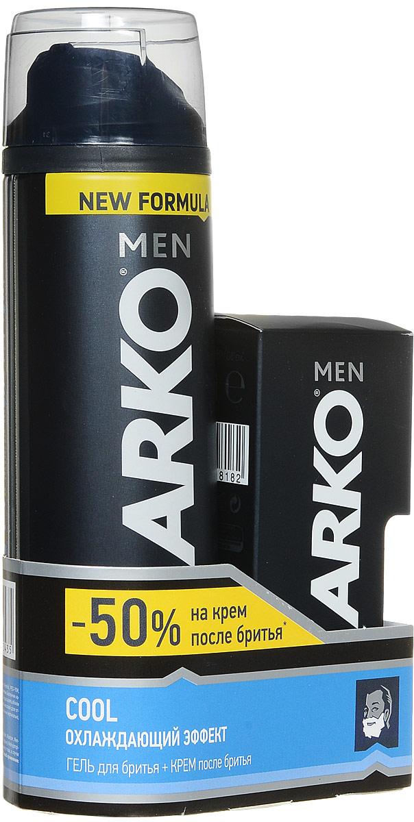 Arko Men Гель для бритья Cool 200мл+Arko Men Крем после бритья Cool 50мл 50%