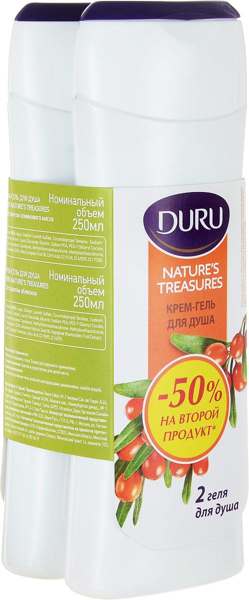 Duru Natures Treasures Подарочный набор Гель для душа Олива 250мл + Гель для душа Облепиха 250мл