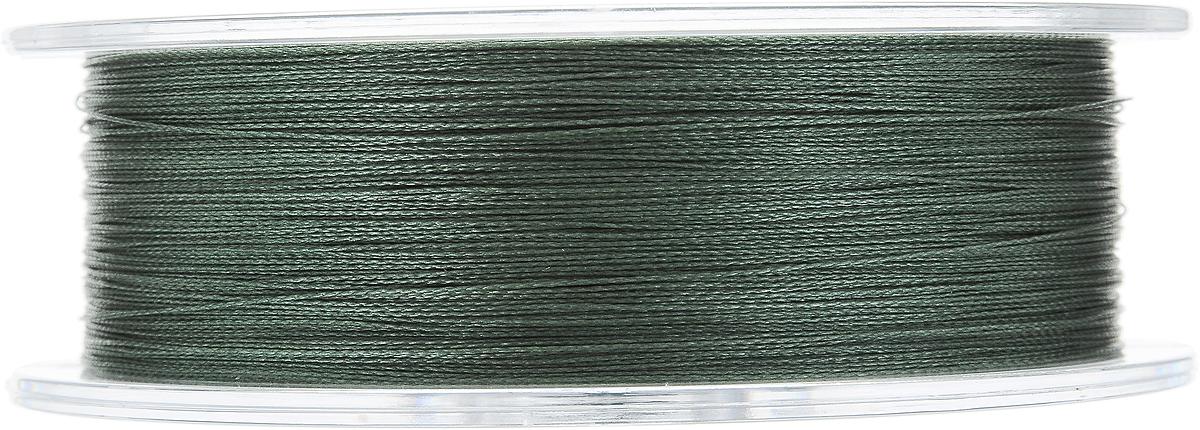 """Леска плетеная Allvega """"Ultimate"""", цвет: темно-зеленый, 135 м, 0,20 мм, 12,7 кг"""
