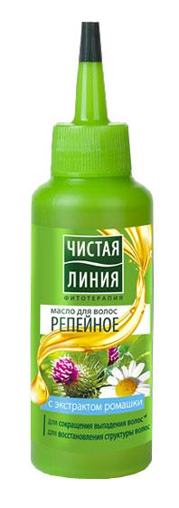 Чистая Линия Фитотерапия Масло для волос 5в1 Репейное 110 мл