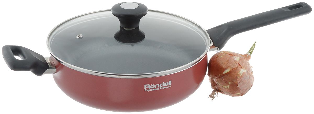 """Сотейник Rondell """"Koralle"""" с крышкой, с антипригарным покрытием. Диаметр 24 см. RDA-559"""