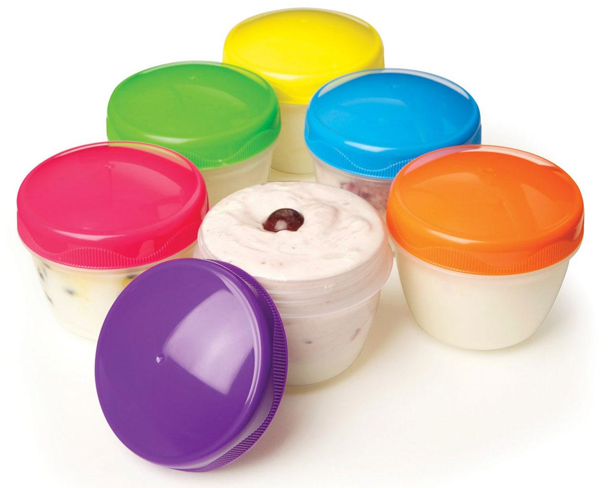 """Контейнер для йогурта Sistema """"To Go"""", цвет: розовый, салатовый, 150 мл, 2 шт"""