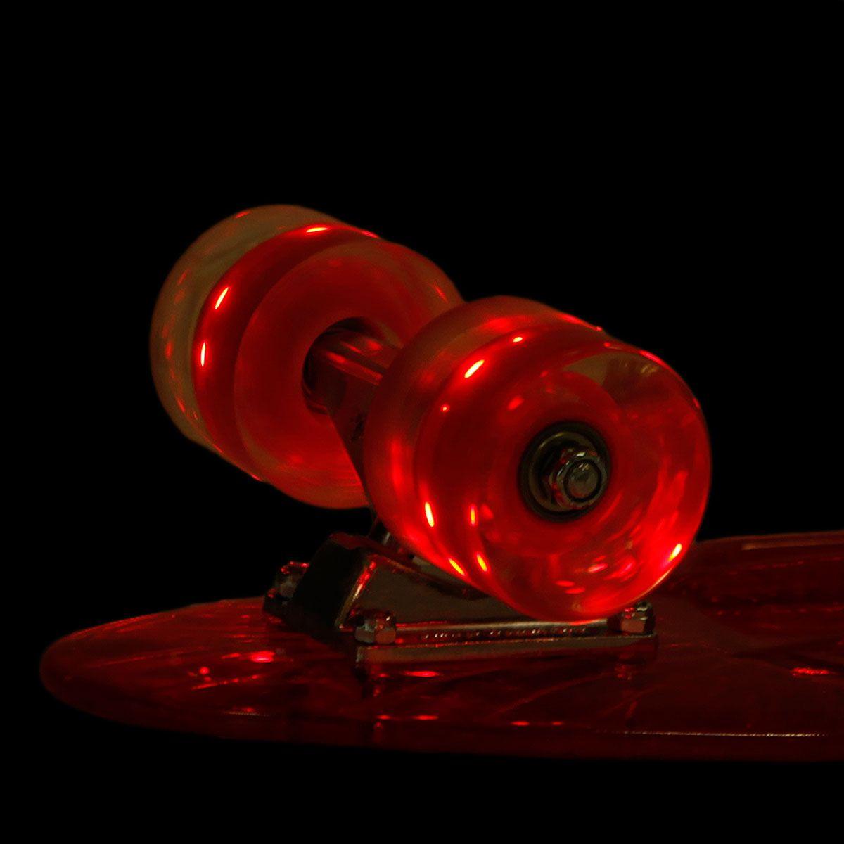 """Пластборд Sunset Skateboards """"Lifeguard"""", цвет: красный, прозрачный, дека 56 х 15 см"""
