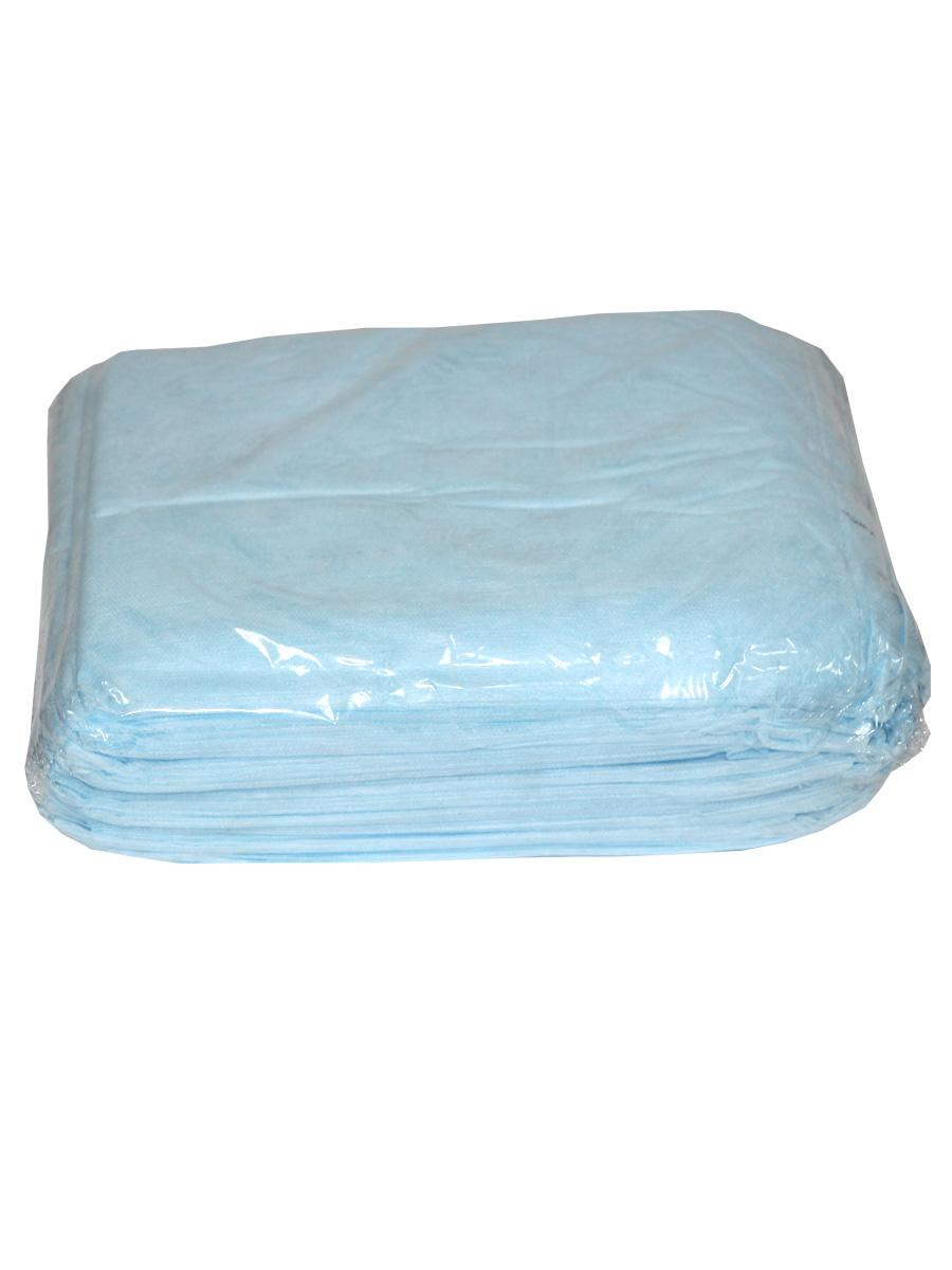 Простыня СМС 200 х 80 см голубой, 20шт./уп. (Чистовье)