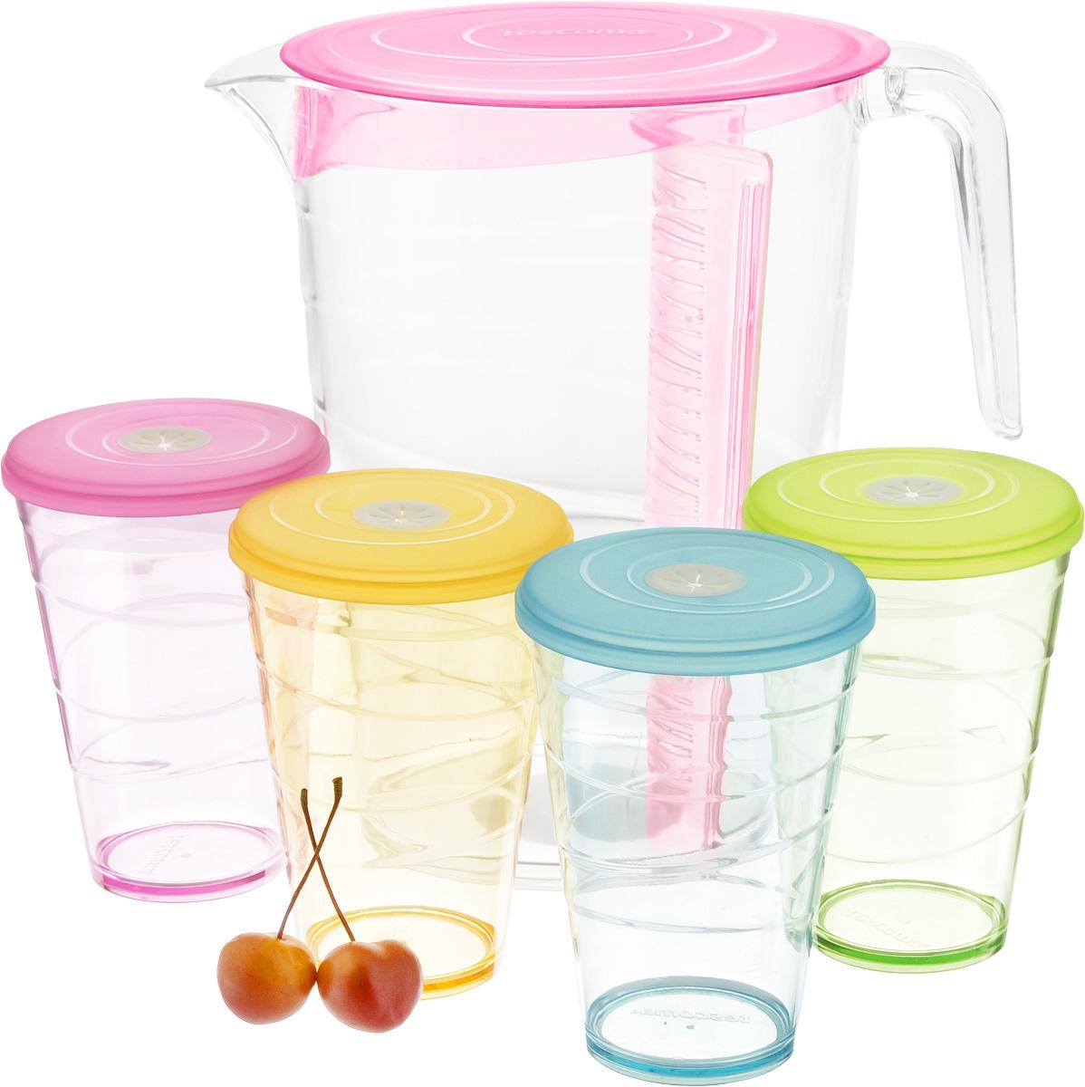 """Набор питьевой Tescoma """"My Drink"""", цвет: розовый, 9 предметов"""