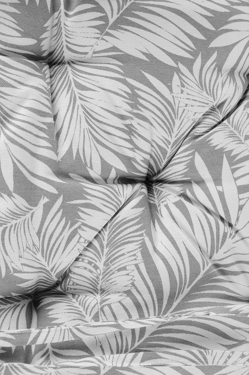"Подушка на стул KauffOrt ""Пальма"", цвет: серый, 40 x 40 см"