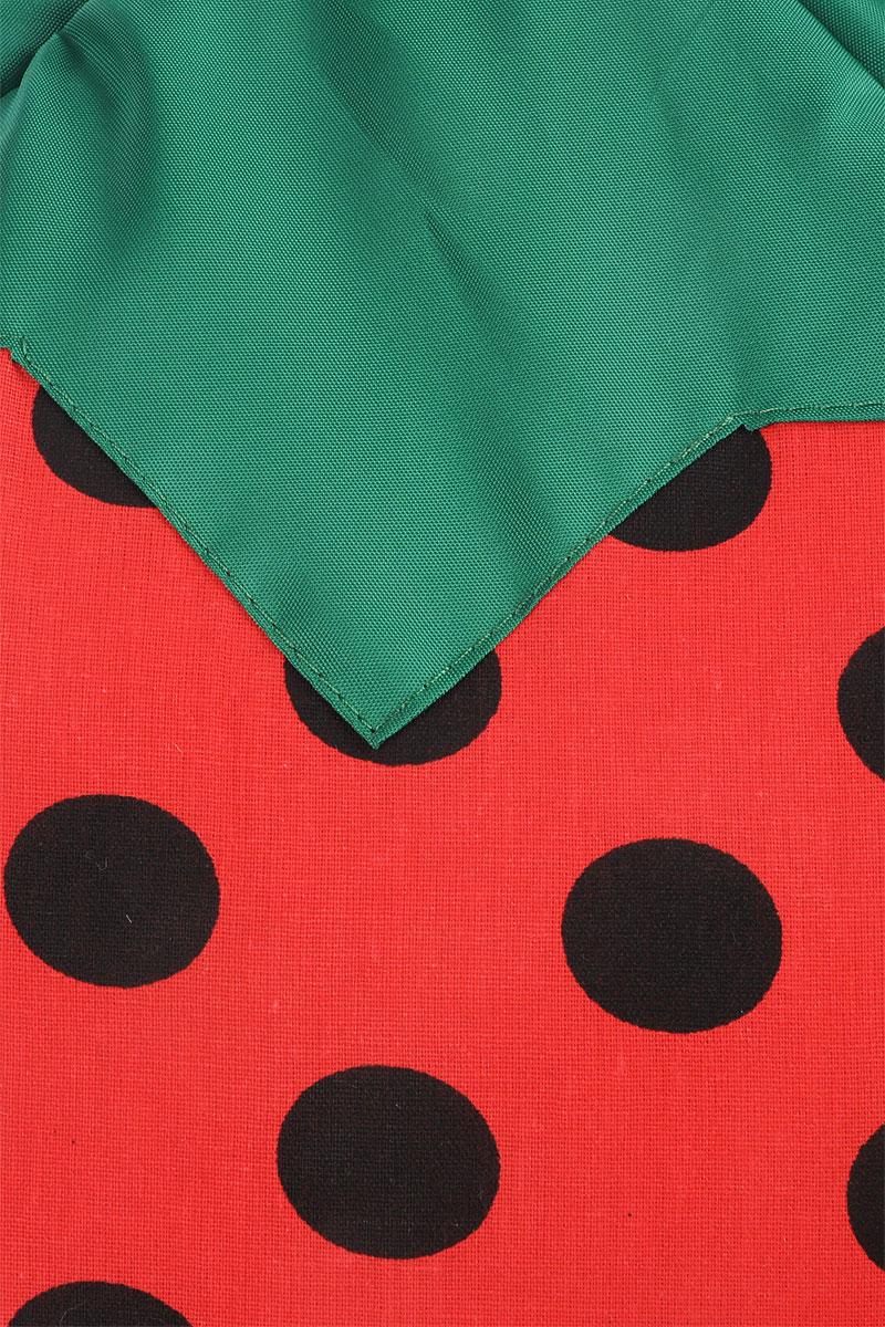 """Домик для животных ЗооМарк """"Клубничка"""", цвет: красный, зеленый, 36 х 36 х 35 см"""