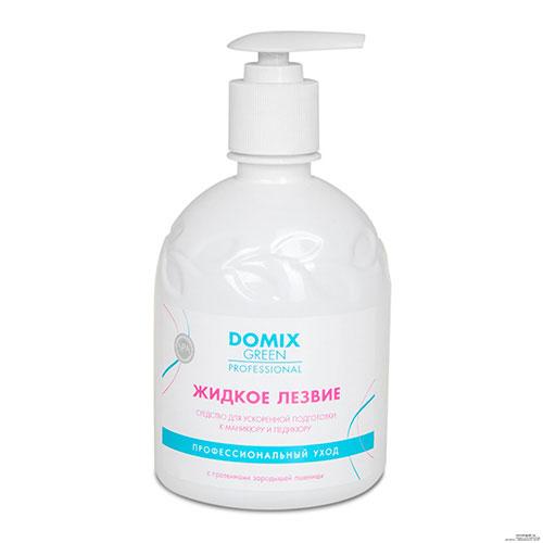 Domix Green Professional Жидкое лезвие для ванночек. Средство для подготовки к маникюру, 500 мл