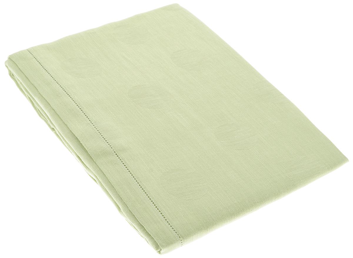 """Скатерть """"Гаврилов-Ямский Лен"""", прямоугольная, цвет: светло-зеленый, 140 x 250 см"""