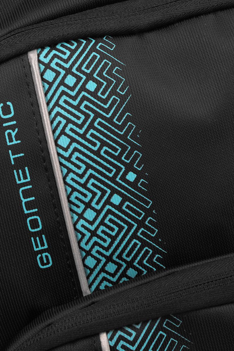 Рюкзак городской мужской Grizzly, цвет: черный, бирюзовый, 24 л. RU-707-1/2