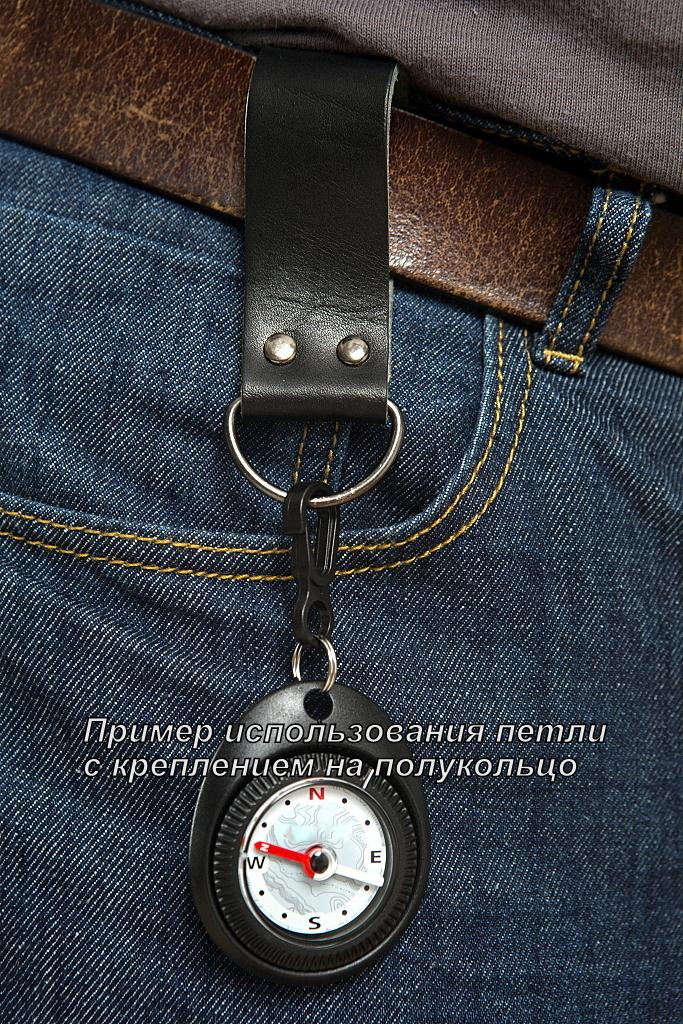 """Петля на ремень Solaris """"S8201"""", с карабином, 2 шт, цвет: черный"""