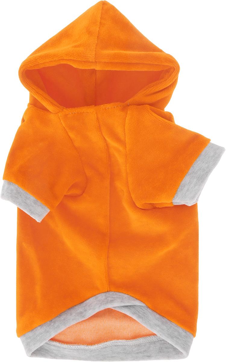 """Толстовка для собак """"Osso Fashion"""", цвет: оранжевый, серый. Размер 30"""