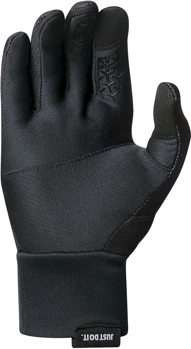 """Перчатки для бега женские Nike """"Dri-Fit Tempo"""", цвет: черный, серебристый. Размер L"""