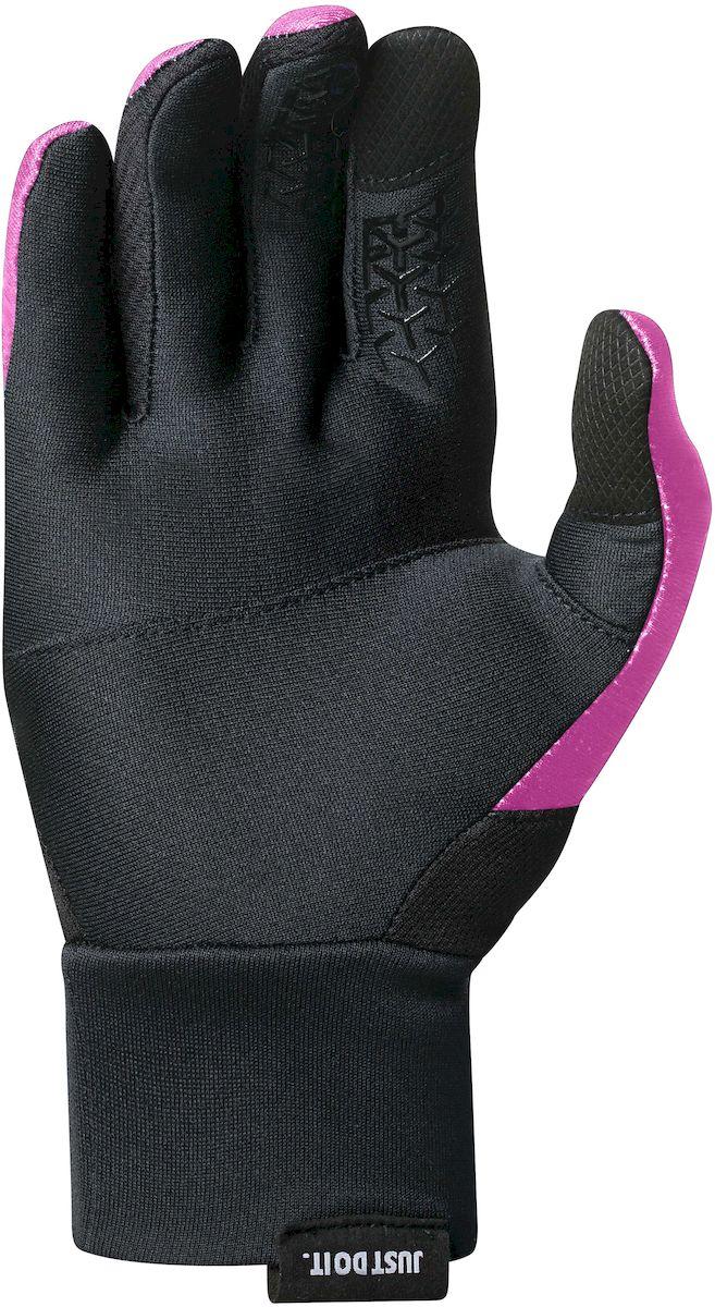 """Перчатки для бега женские Nike """"Dri-Fit Tempo"""", цвет: розовый, черный, серебристый. Размер M"""