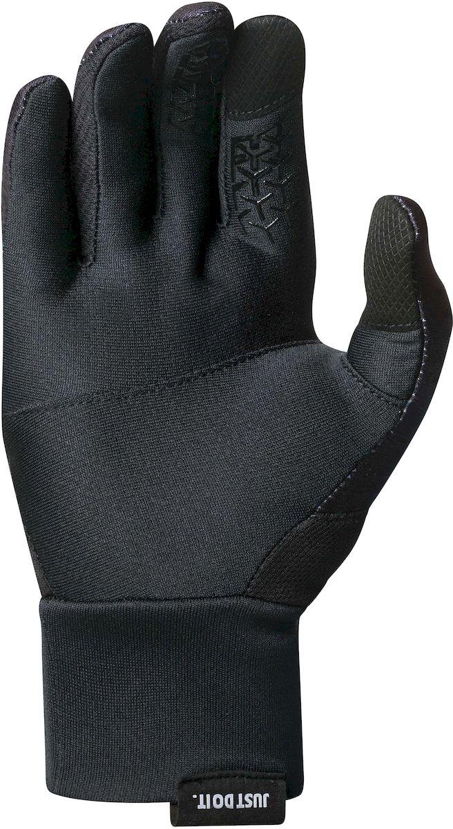 """Перчатки для бега мужские Nike """"Dri-Fit Tempo"""", цвет: черный, серебристый. Размер S"""